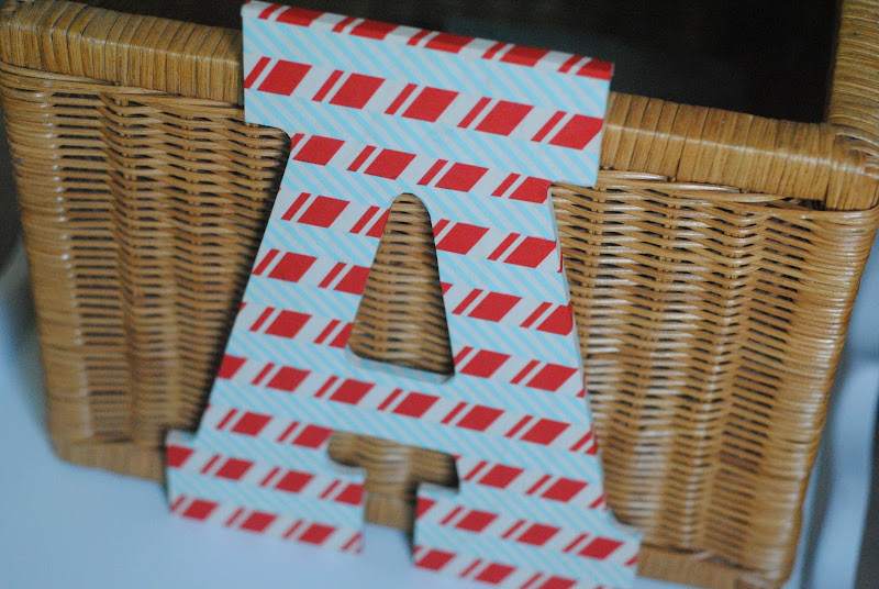 DIY Washi Tape Letters Kids Craft Idea