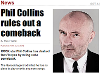 Phil Collins rules out a comeback