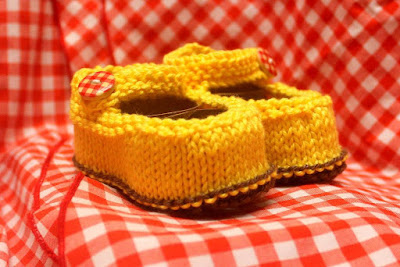 Free Knitting Pattern for Newborn Baby Jane Booties