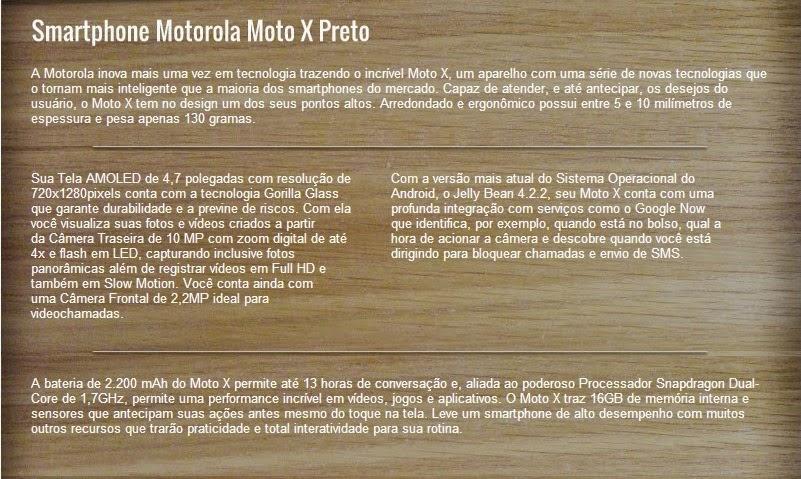 Moto X o smartphone completo e com preço acessível.