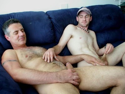 Father and son masturbation