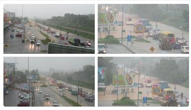 Gambar Bandar Kajang Dilanda Banjir Kilat Lagi