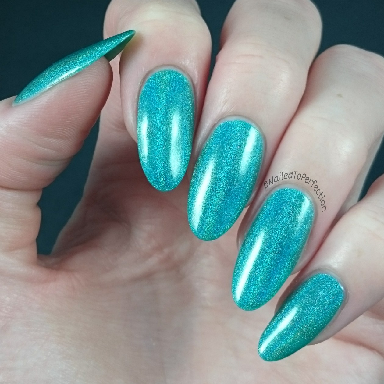 B nailed to perfection celebrate with nyx celestial cosmetics celebrate with nyx is from celestial cosmetics and it was specially made to celebrate their second birthday it is described as a teal linear holo but on prinsesfo Image collections