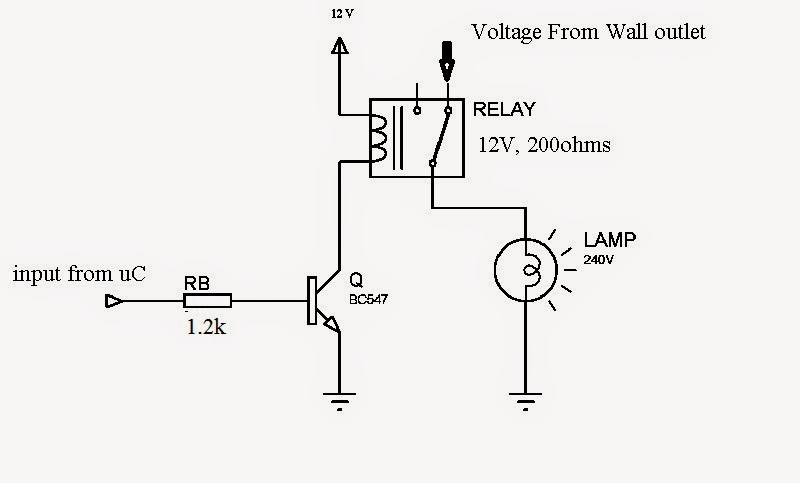 electronics circuits embedded pic micro controller tutorials how battery circuit diagram once i had a problem while toggling a relay using bc547 my relay contacts have got welded due to lack of holding current due to that i made 3 relays