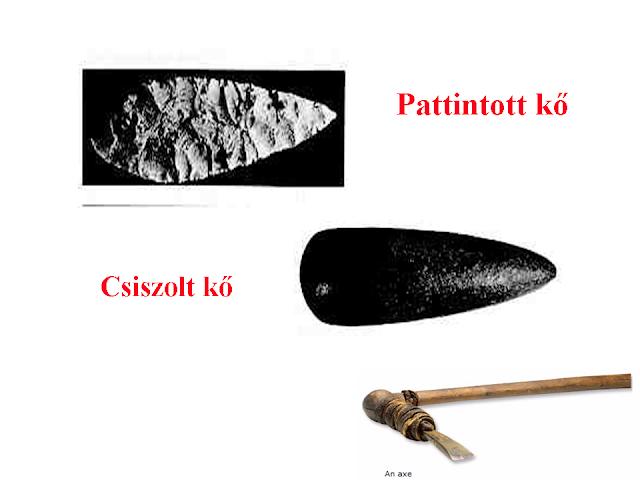 pattintott és csiszolt kő