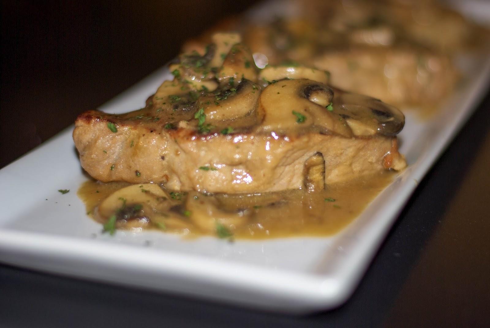 Dijon Mushroom Pan Seared Pork