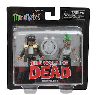 TRU Exclusive The Walking Dead Comic Book Minimates 2 Pack - Shane & Punk Zombie