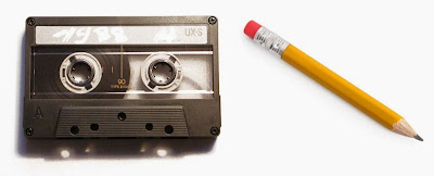 It's a shame that our kids will never know the correlation between the cassette tape and a pencil. I love the 80's www.thebrighterwriter.blogspot.com