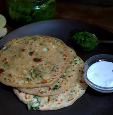 cauli-broccoli paratha ........flat breads stuffed with the florets....
