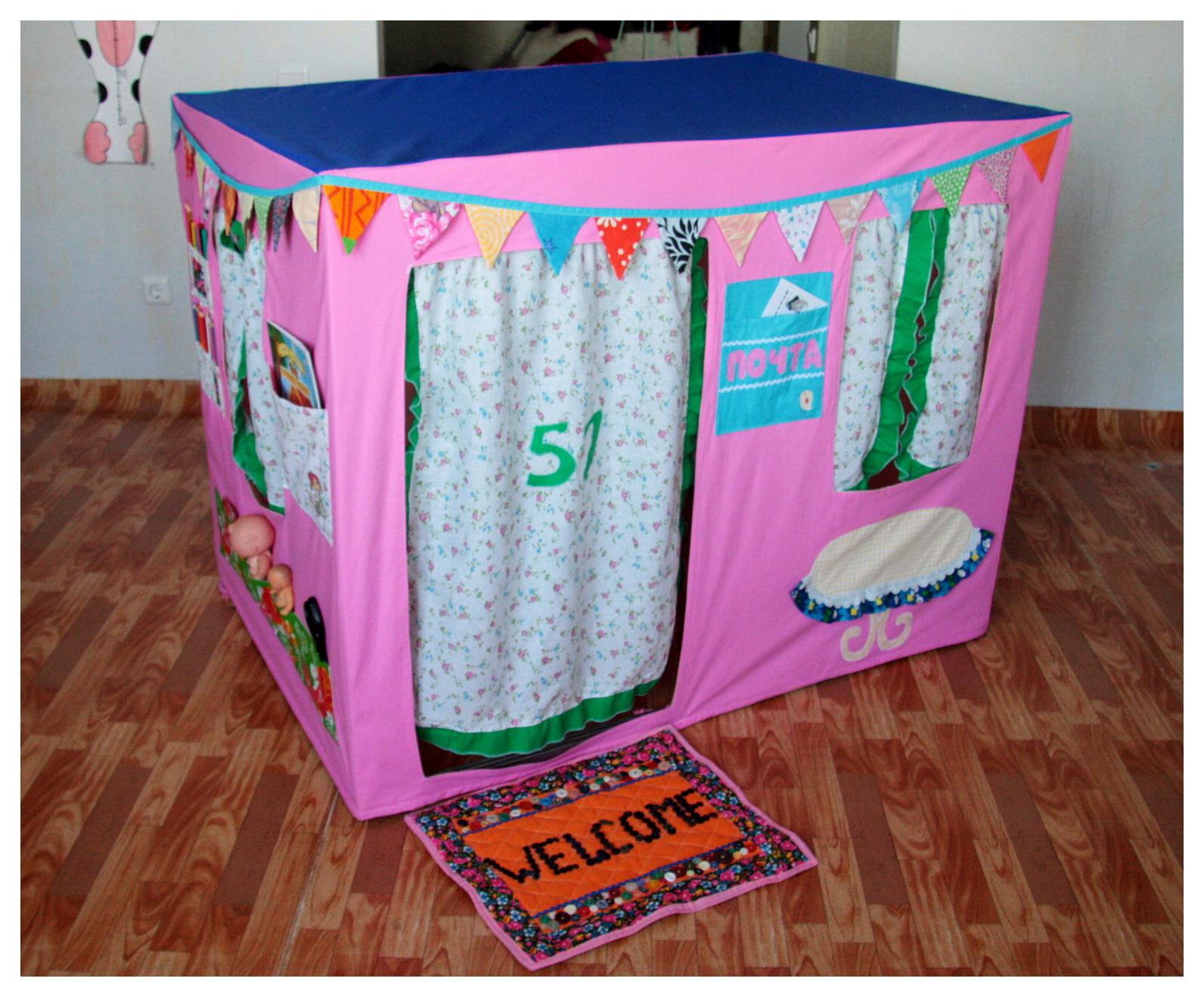 Текстильный домик для ребенка 35