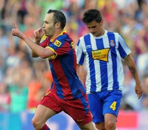 Spanish Football Iniesta FC Barcelona 2011