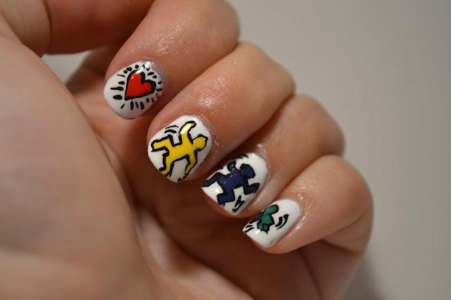 Close up - Keith Haring Nail Art by Elins Nails