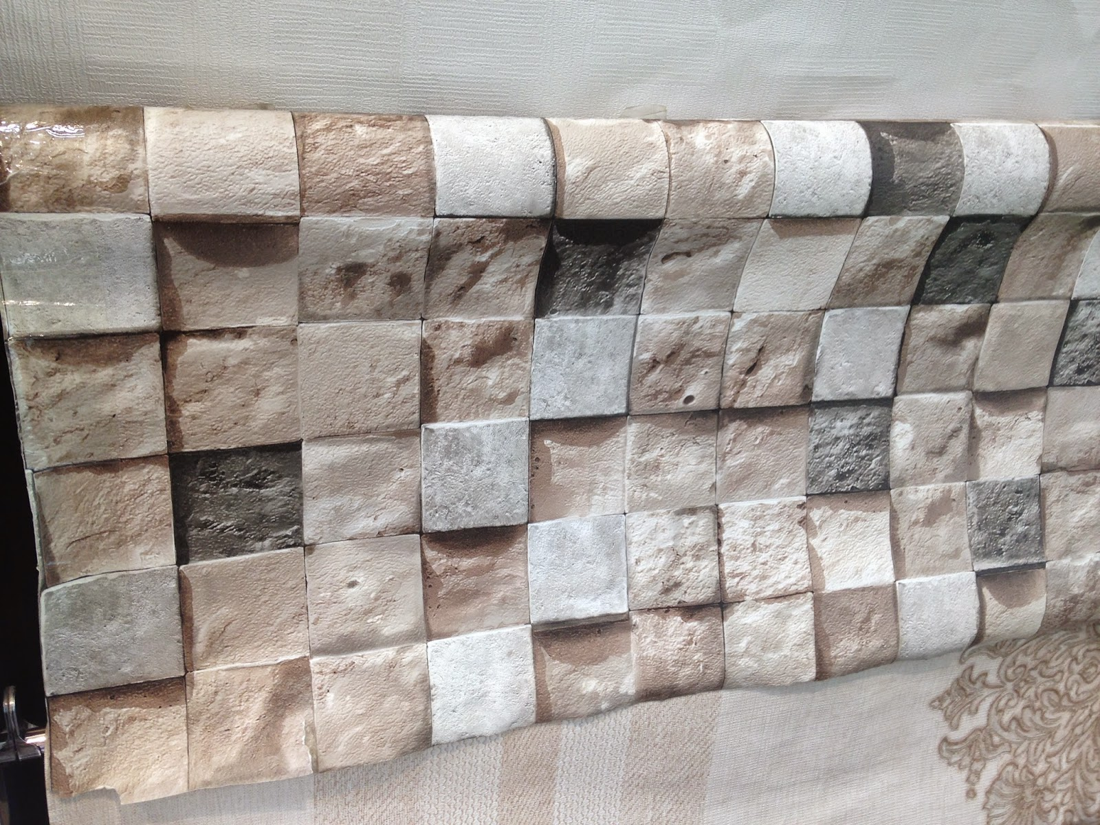famous wallpaper that looks like stone. Black Bedroom Furniture Sets. Home Design Ideas