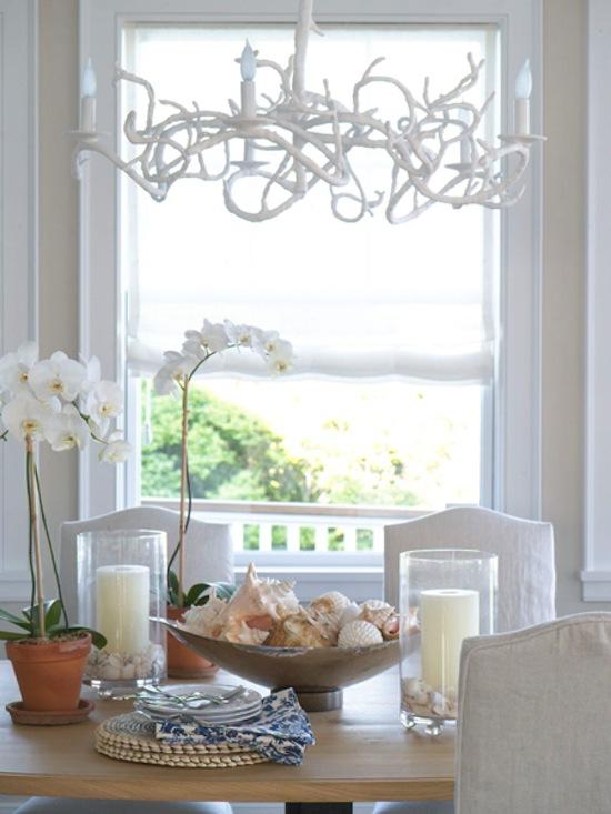 coral dining pendant, beach decor