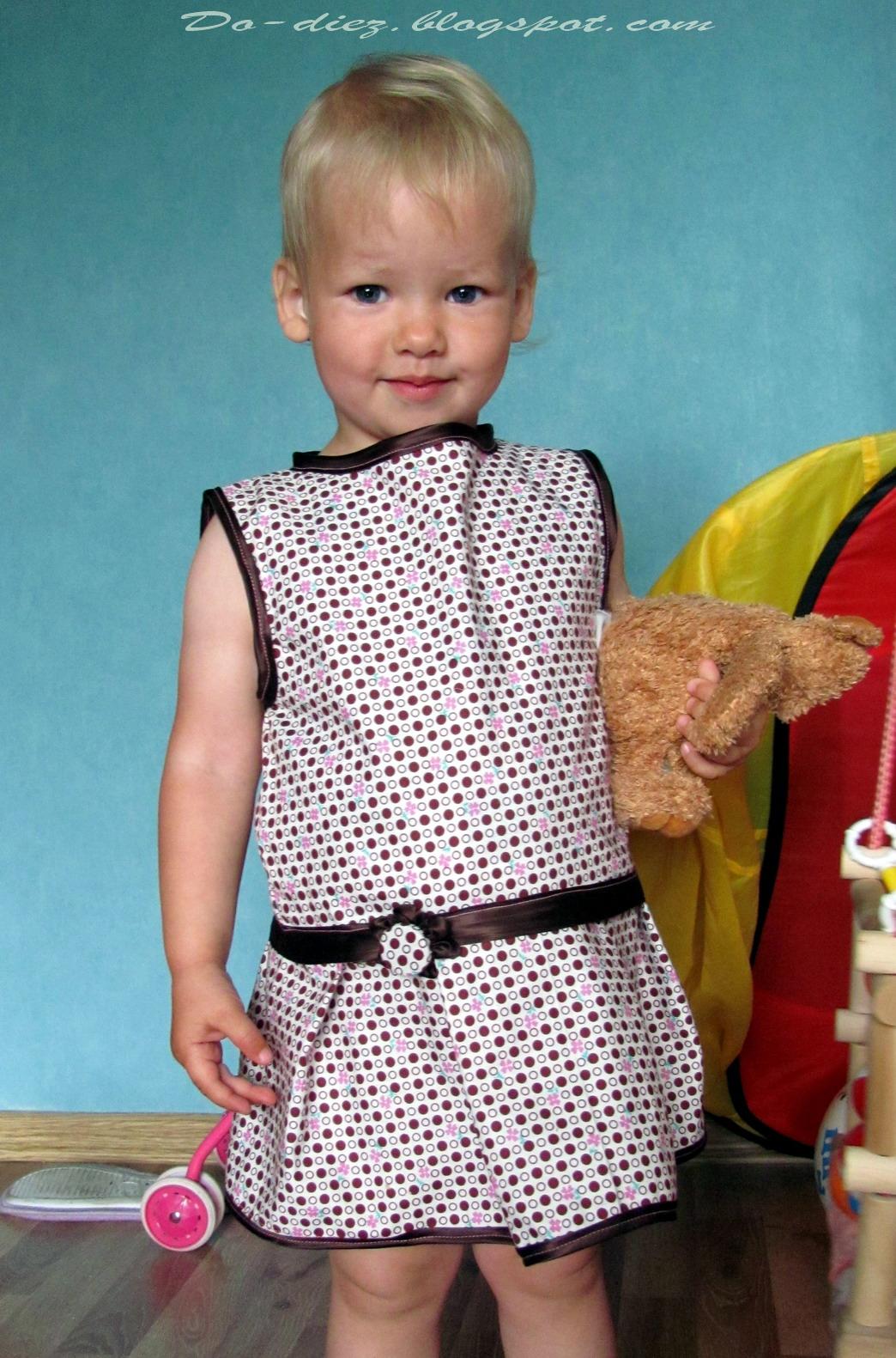 Сшить для дочери платье 90