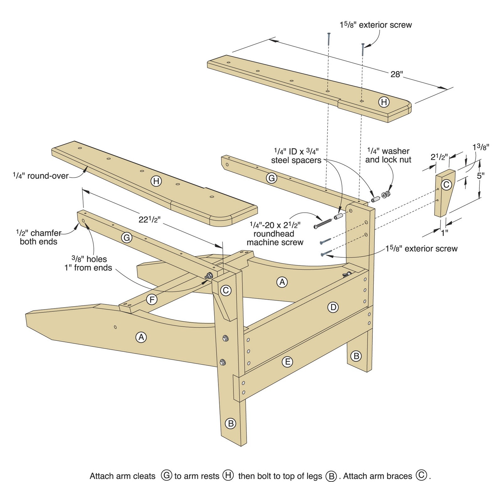 Wood Working Plans Shed Plans and more Folding Adirondack Chair