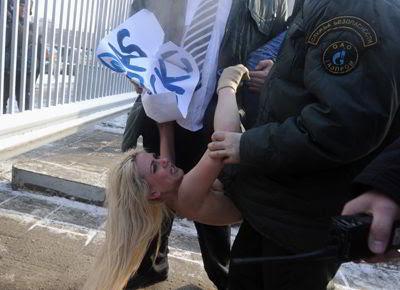 Фото Photoshot/УКРИНФОРМ: акция FEMEN