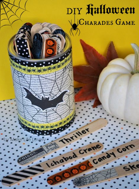 the directions are simple and in no time you too can have a fun halloween charades game ready for your next get together this fun game cost me literally - Halloween Outside Games