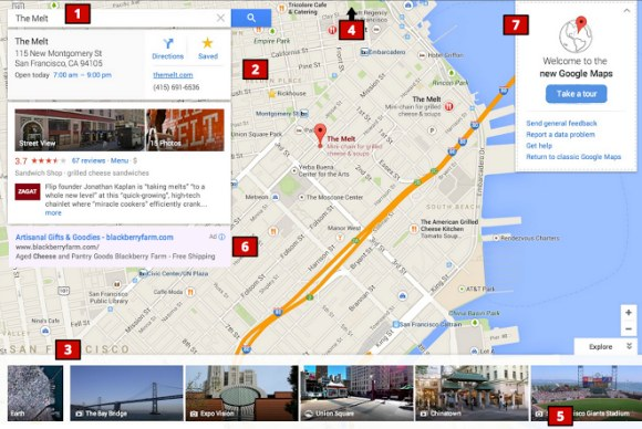 nova interface do google maps