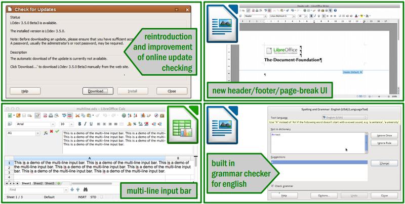 Beberapa fitur baru LibreOffice 3.5.0
