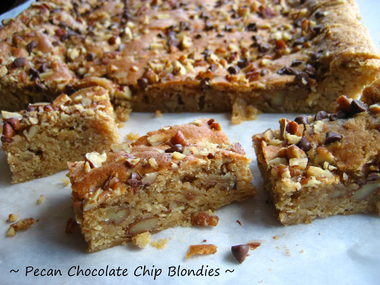 Pecan Blondies( with maple