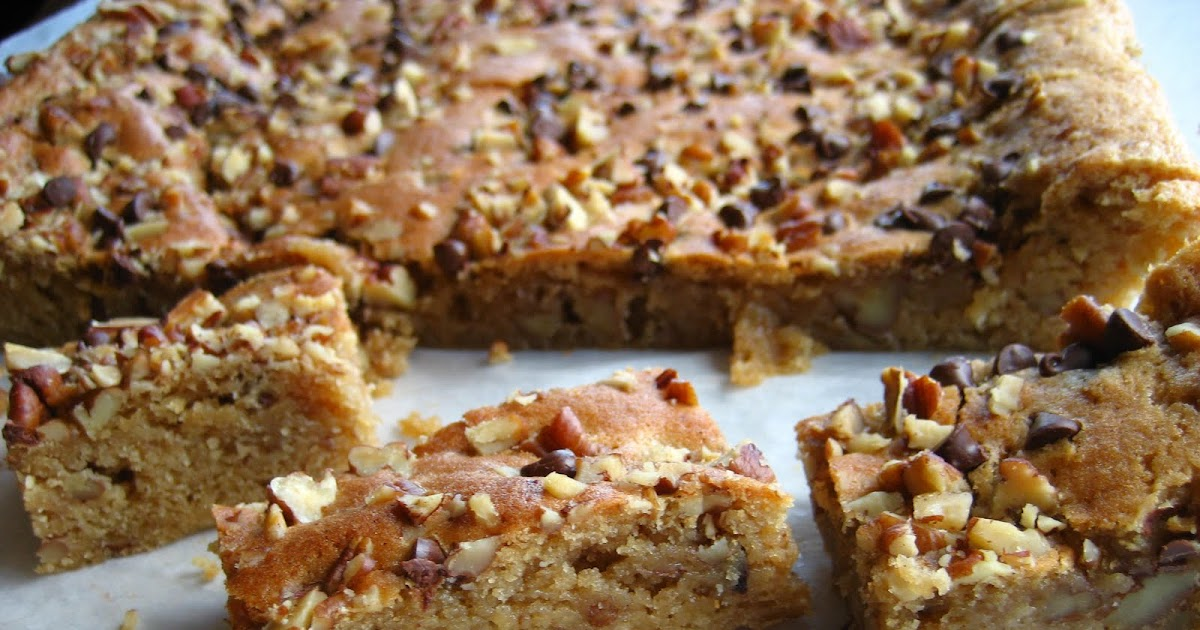 Home Cooking In Montana: Pecan Blondies( with maple syrup sauce)...#6 ...