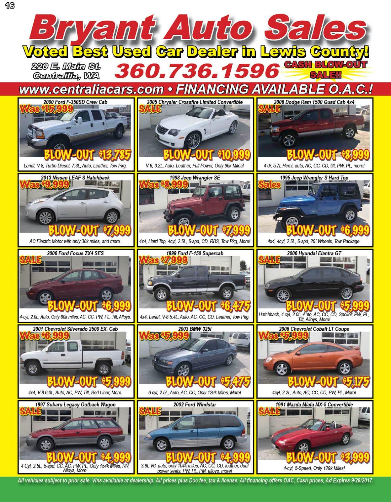 Bryant Auto Sales