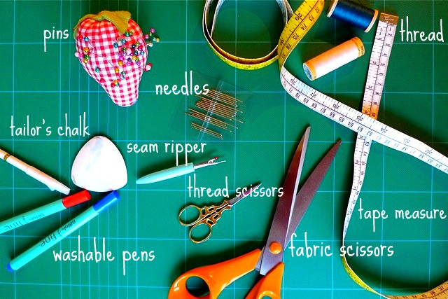 Oh you crafty gal sewing school lesson 3 sewing supplies for Sewing materials