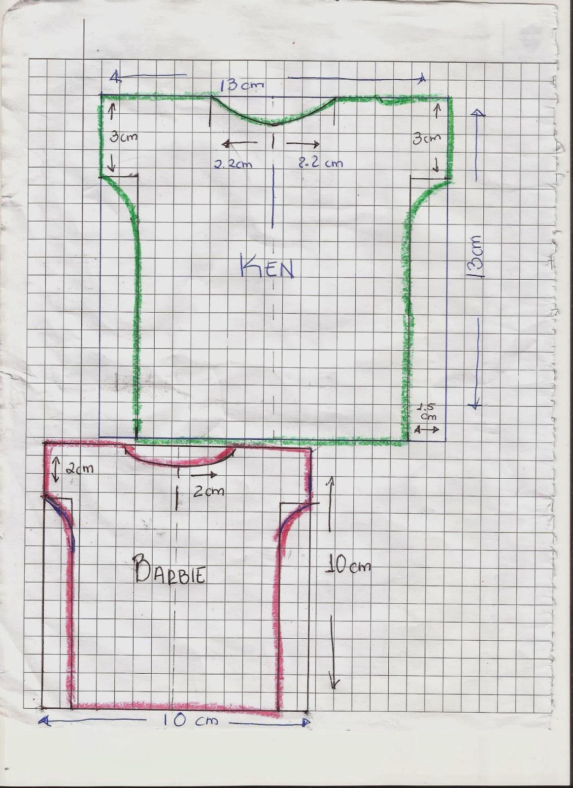 CREANDO IDEAS por EDITH5866: ROPITA PARA KEN, PLAYERA,JEANS,PIJAMA ...