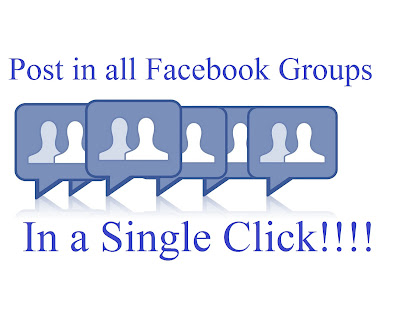 Post Status on all facebook groups with one click.