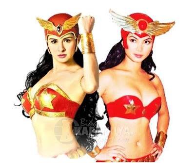 Angel Locsin (Darna 2005) and Marian Rivera (Darna 2009)