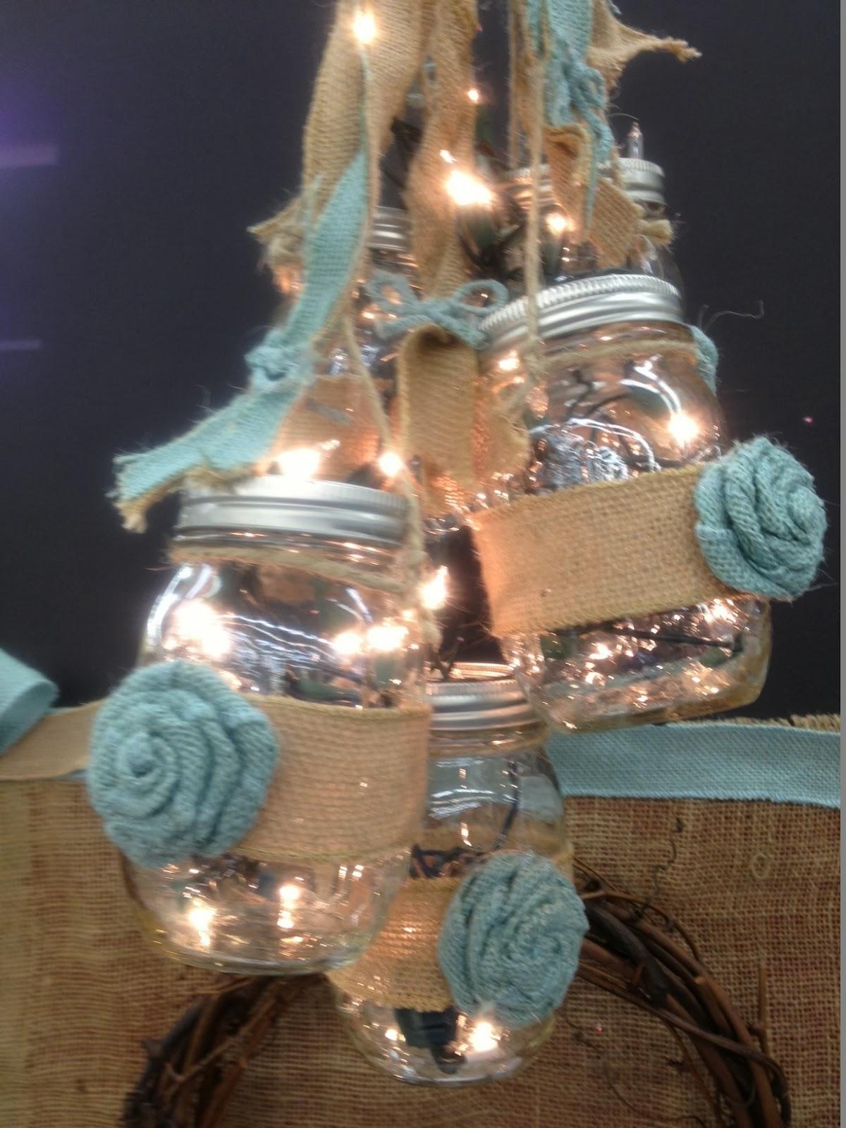 Ideas and Inspirations Shabby Chic Mason Jar & Burlap Ribbon