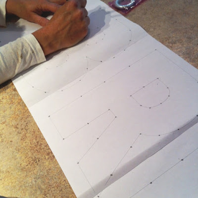 Marking nail guides for string art