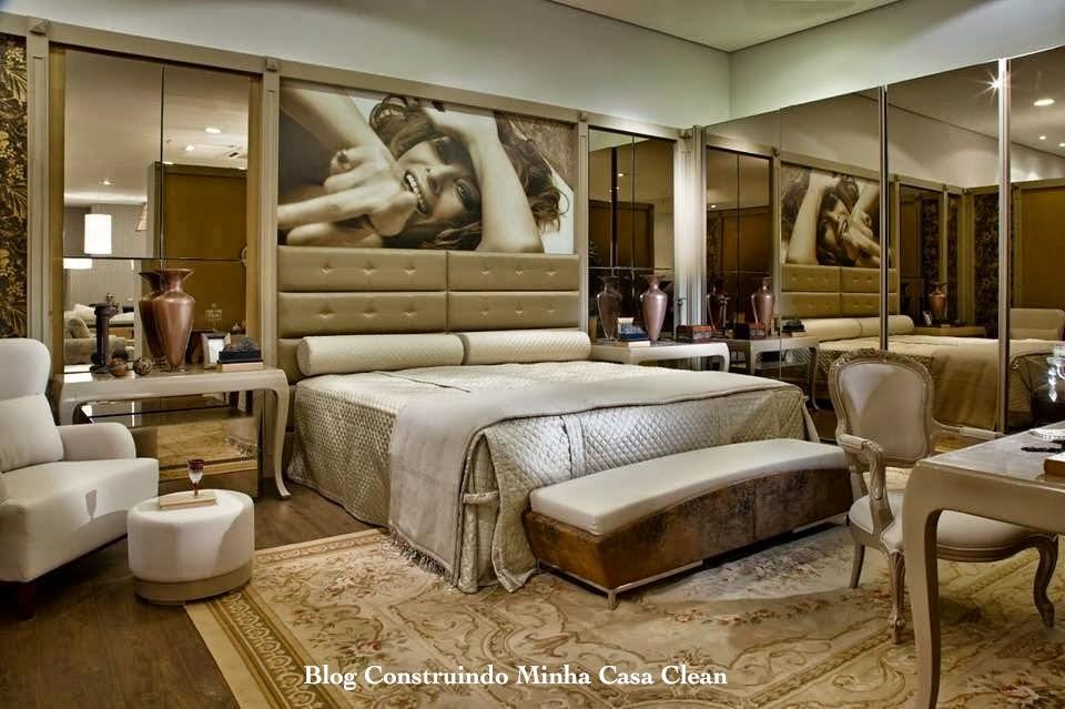 Construindo minha casa clean top 10 quartos de casal for Quadros dormitorio