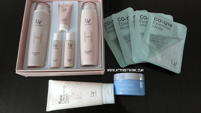 Lacvert skincare set and freebies (full size cleansing foam, jar of sleeping pack, and 5 sheet masks)