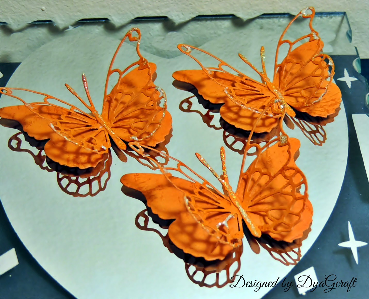 Darla butterfly orange