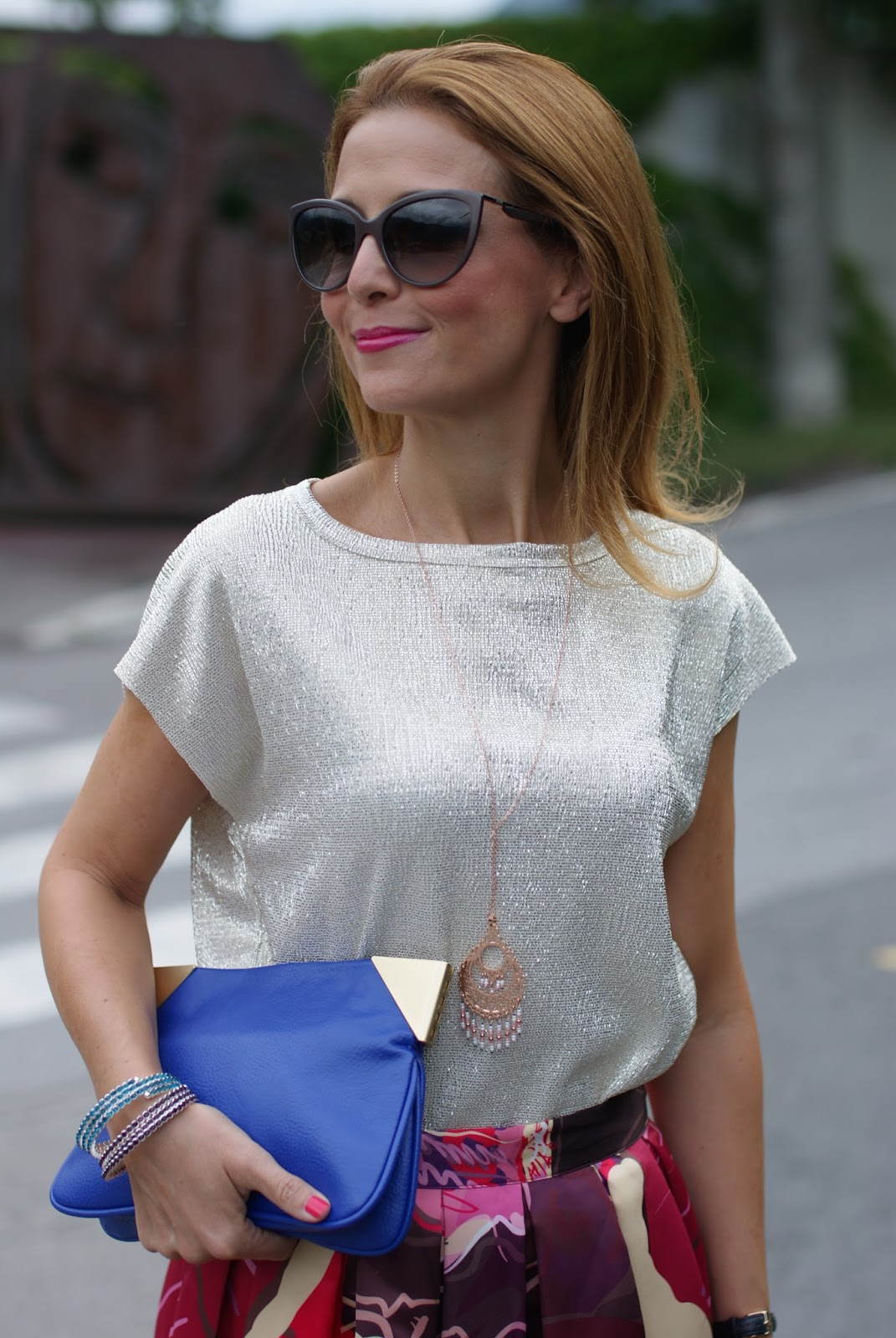 golden top for an ethno chic outfit with Luca Barra jewels on Fashion and Cookies fashion blog, fashion blogger style