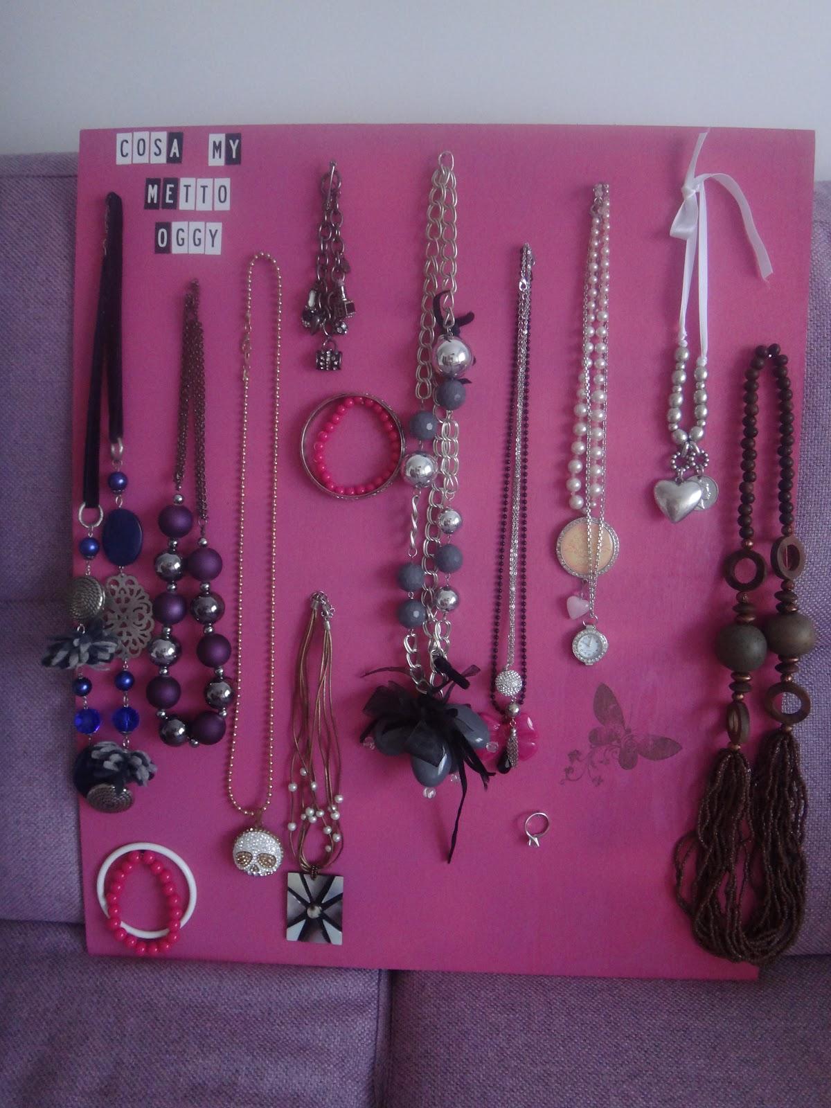 Colorato di pink il mio porta collane - Porta collane da armadio ...