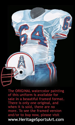 Houston Oilers 1989 uniform - Tennessee Titans 1989 uniform