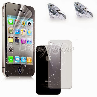 6/1x Clear Diamond Matte Front Screen Protector Film Skin for iPhone 5S 5 4S 4