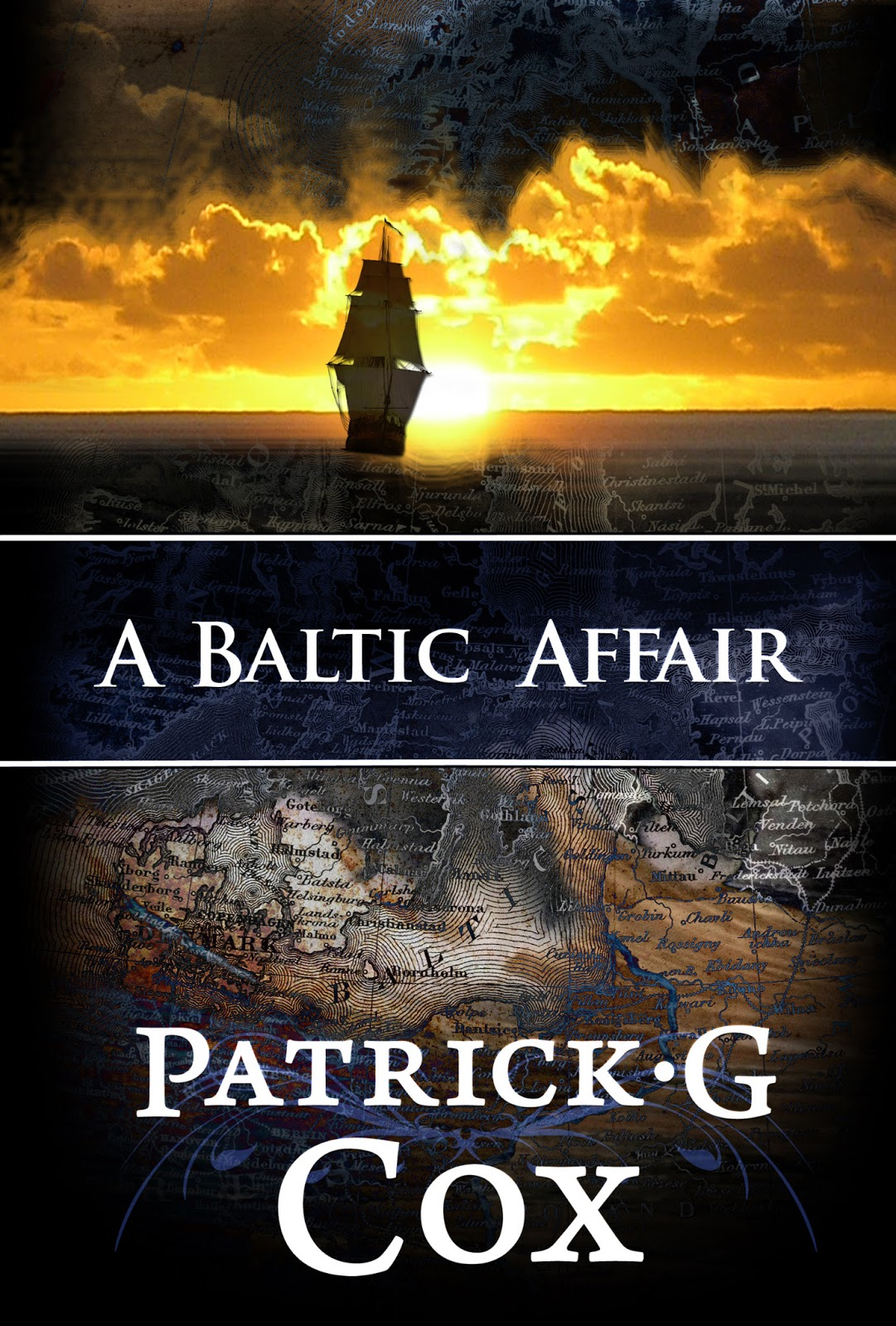 """A Baltic Affair"" author: Pat G Cox, cover designer: Kura Carpenter, http://kuracarpenterdesign.blogspot.co.nz/"