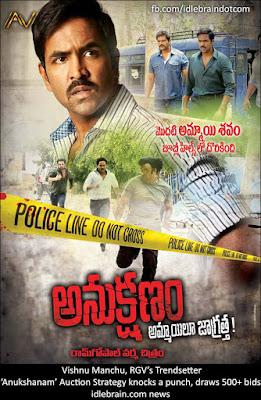 Anukshanam 2015 Telugu HDRip 480p 300MB ESub