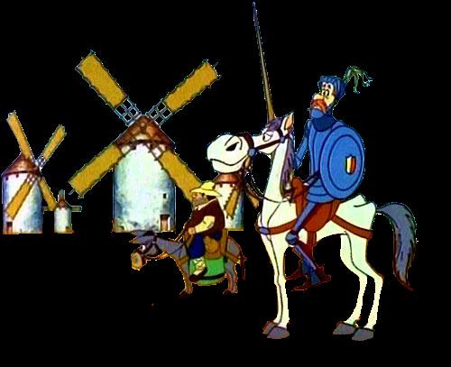 Resultado de imagen de gifs animados don quijote
