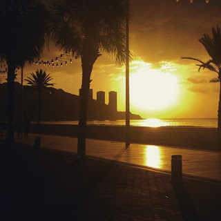 Primer amanecer del año en #Benidorm