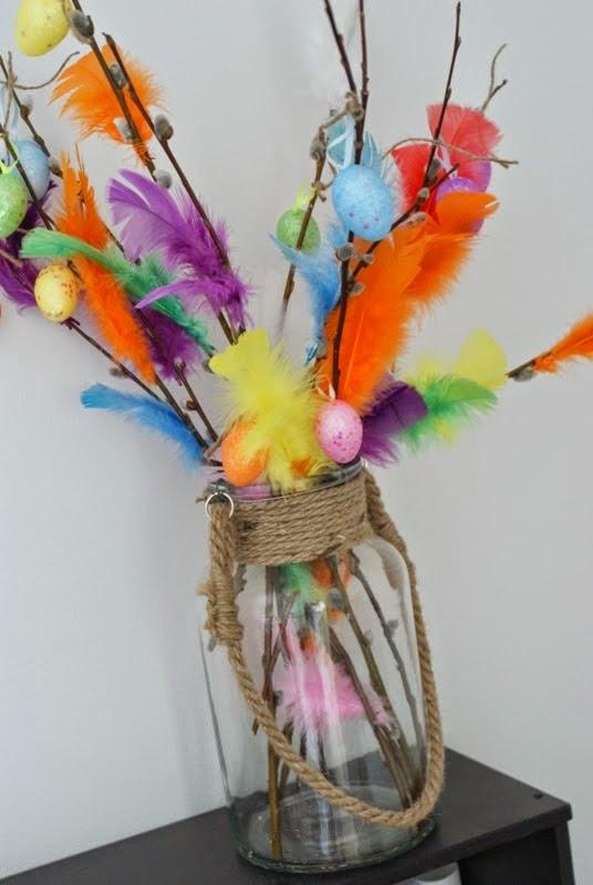 pääsiäinen, pajunoksat, värikäs muna, pääsiäisaskartelu