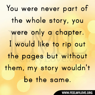You were never part of the whole story