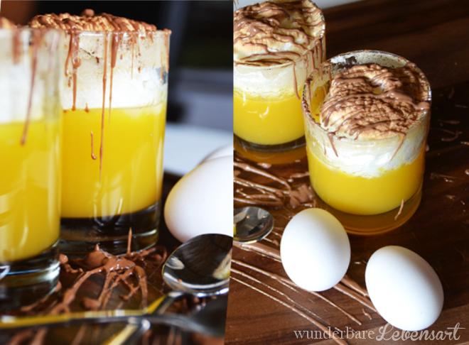 Orangenpudding mit Baiserhaube