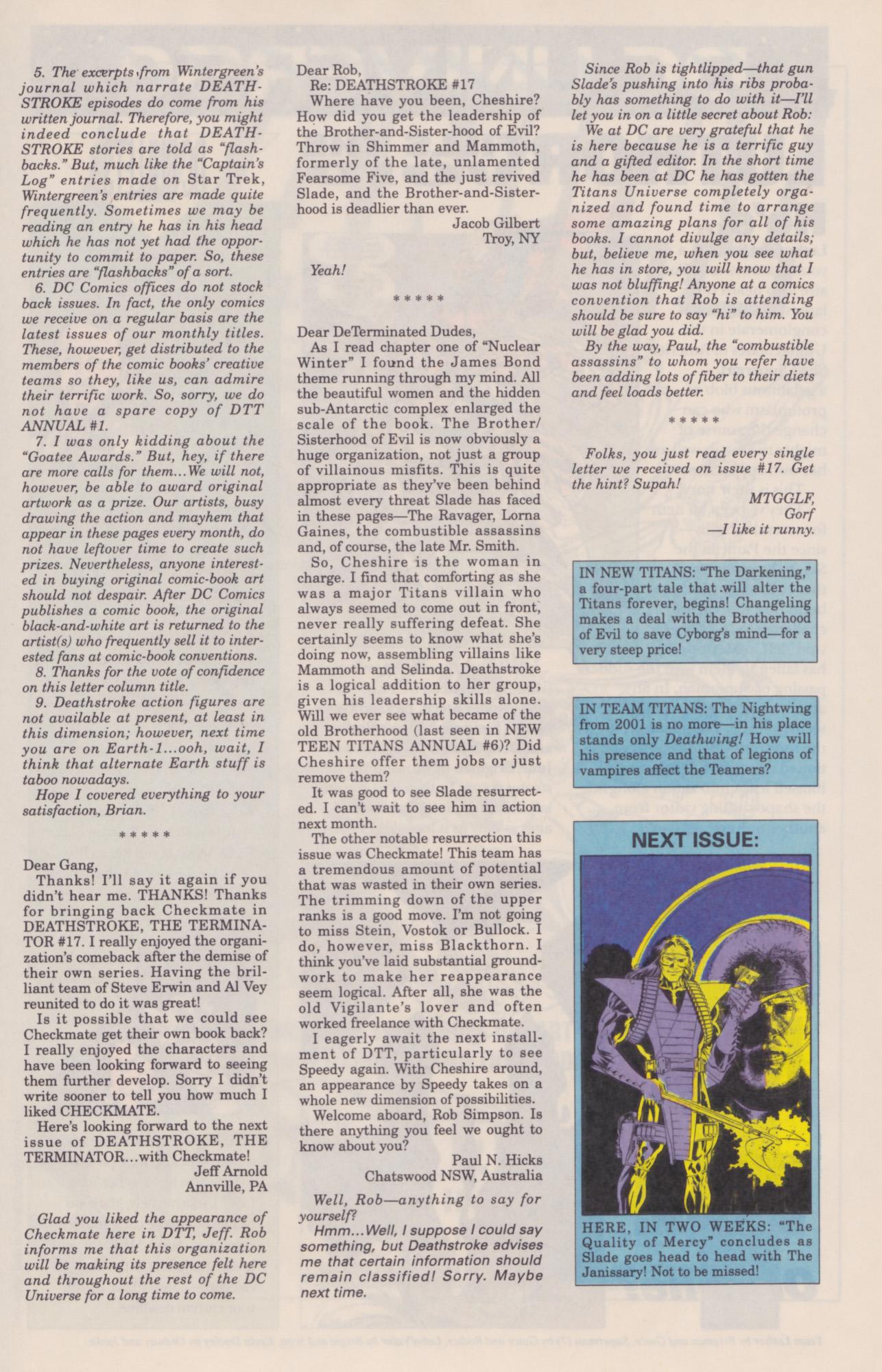 Deathstroke (1991) Issue #22 #27 - English 28