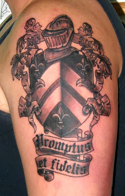 Black and White Coat of Arms Tattoo