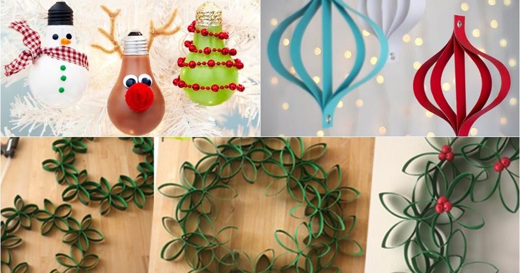 Ideias De Natal ~ 10 ideias de decorações fáceis e baratas para o Natal Amando Cozinhar Receitas Fáceis e rápidas